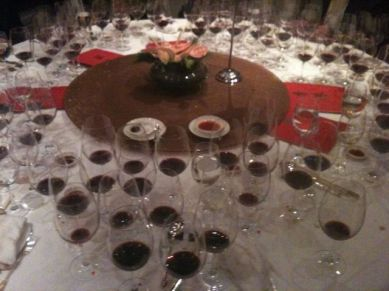my table full of Caymus and Angelus