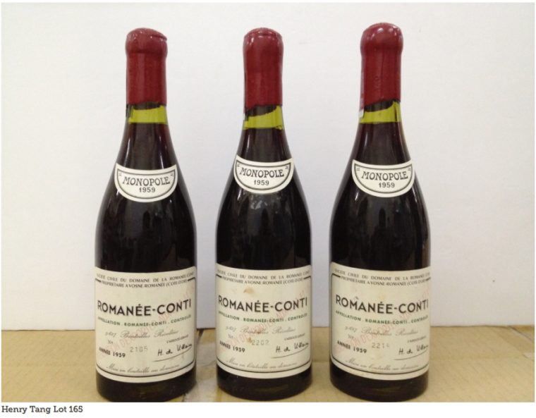 "Cornwell in his mail to Christie's said ""First, Lot 165 has four digit bottle numbers instead of five."""