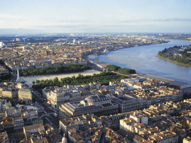 The Beautiful Bordeaux City  in Spring time
