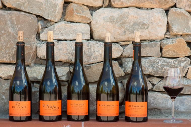 the whole range of Anne's Minervois wine
